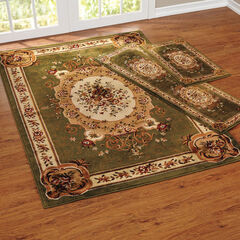 Floral 3-Pc. Rug Set with Runner, GREEN