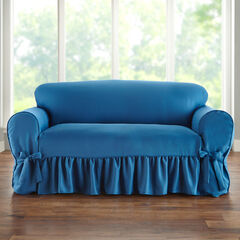 Loveseat Slipcover, BLUE