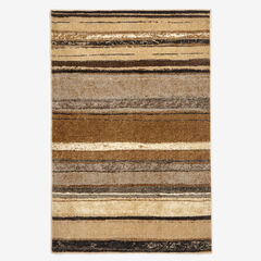 Small Rainbow Stripe Rug , NATURAL