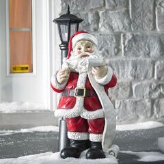 Santa Lamp Post Statue, MULTI