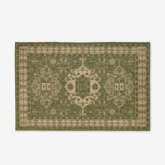 "Carmel Indoor/Outdoor Kilim Rug 6'6"" x 9'4"", GREEN"