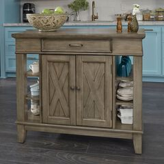 Mountain Lodge Kitchen Island by Home Styles, MULTI GRAY