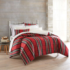Nicholas Flannel Plaid Comforter, RED