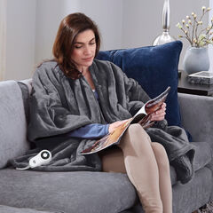 Serta Heated Snuggler Wrap Throw,