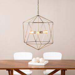 Clardonia Geometric 3-Light Pendant Lamp,