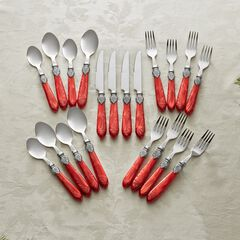 20-Pc. Amber Flatware Set,