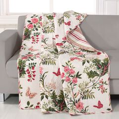 Greenland Home Fashions Butterflies Quilted Throw Blanket, MULTI