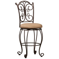 """Gathered Back Counter Stool, 24""""H,"""