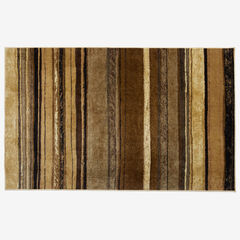 Large Rainbow Stripe Rug , NATURAL