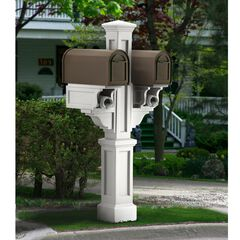 Rockport Double Mail Post, WHITE