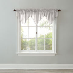 BH Studio Crushed Voile Ascot Valance, SILVER