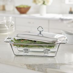 2.3-Qt. Rectangular Glass Chafing Dish,