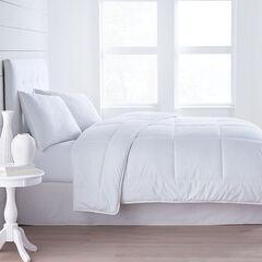 Luxe Sleep 300-TC Dobby Stripe Comforter, WHITE