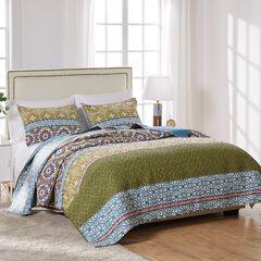 Shangri-La Quilt Set by Greenland Home Fashions, JADE