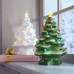 Mr. Christmas Pre-Lit Nostalgic Porcelain Christmas Tree, WHITE