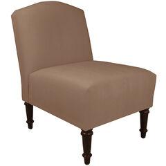Ashburn Camel Back Chair, VELVET COCOA