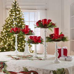 Candlesticks, Set of 5, WHITE