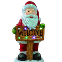 Musical Santa Welcome Sign,
