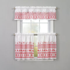 Holiday Valance, RED CROSS-STITCH