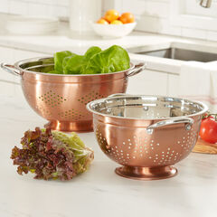 Set of 2 Copper Colanders, COPPER
