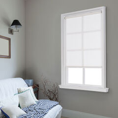 Cut-to-Width Spring Natural Roller Shade, WHITE