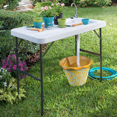 Outdoor Sink Table, WHITE