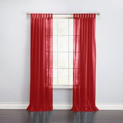 BH Studio Sheer Voile Tab-Top Panel, RUBY