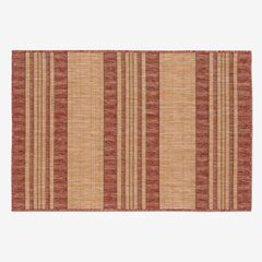"Carmel Indoor/Outdoor Bold Stripe Rug 3'3"" x 4'11"", RED"