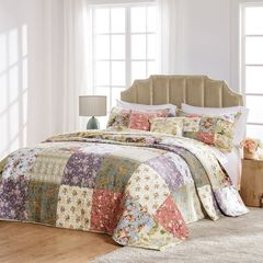 Blooming Prairie Bedspread Set by Greenland Home Fashions, SAGE