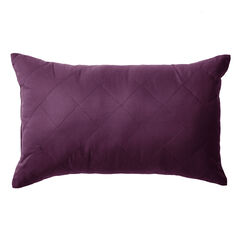 BH Studio® Reversible Quilted Lumbar Pillow, PLUM DUSTY LAVENDER