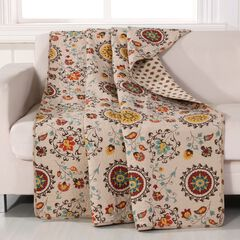 Greenland Home Fashions Andorra Quilted Throw Blanket, MULTI