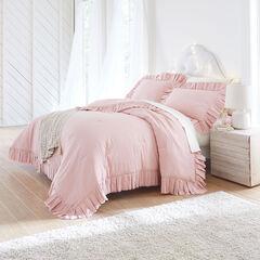 Cotton Linen Coverlet, POWDER ROSE