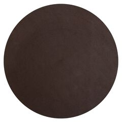 """Alpine Braid Collection Reversible Indoor Area Rug, 72"""" Round by Better Trends, CHOCOLATE SOLID"""