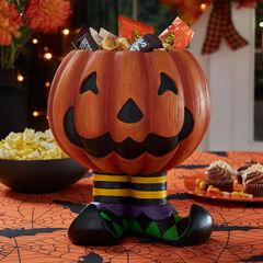 Jack-O-Lantern Candy Bowl, ORANGE
