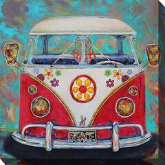 Hippie Van Outdoor Wall Art, MULTI