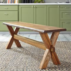 Forest Retreat Trestle Bench by Home Styles, WOOD
