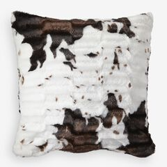 Animal Print Faux Fur Pillow Covers, COW PRINT
