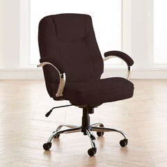 Extra Wide Women's Office Chair, BROWN