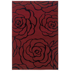 Milan Red/Black 8'X10' Area Rug,