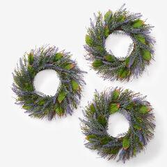 Set of 3 Mini Lavender Wreaths, PURPLE