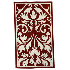 Capri Red 5' x 7' Area Rug,