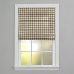 Buffalo Check Roman Shade, TAUPE