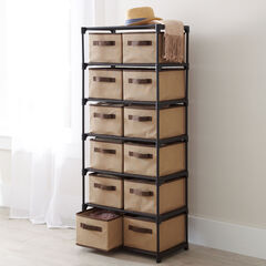 12-Drawer Soft Storage, BEIGE