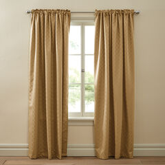 Diamond Thermal Rod-Pocket Curtain, GOLD