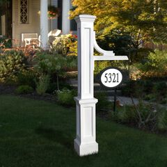Woodhaven Address Sign Post, WHITE