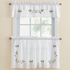 Winter Rose Valance, WHITE