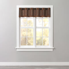 Bamboo Grommet Valance, MAHOGANY BROWN