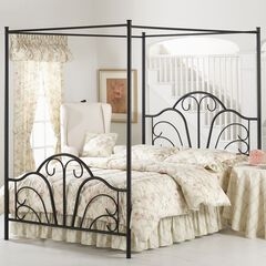 "Queen Bed with Bed Frame, 83½""Lx60¾""Wx81""H,"
