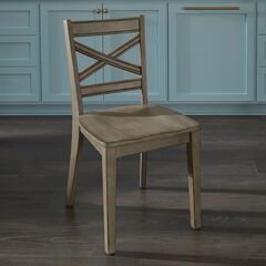 Mountain Lodge Pair of Dining Chairs by Home Styles, MULTI GRAY