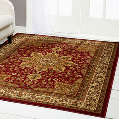 """Royalty Rug 5'2"""" x 7'2"""", RED"""